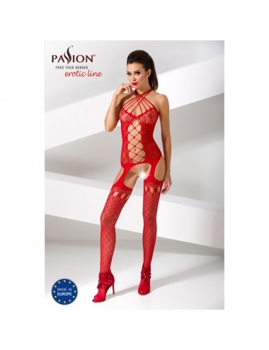Lingerie - Combinaisons - BS056b Bodystocking - Rouge - Passion