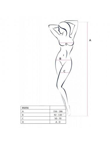Lingerie - Combinaisons - Bodystocking noire bretelles croisées et effet laçage BS056a - Passion