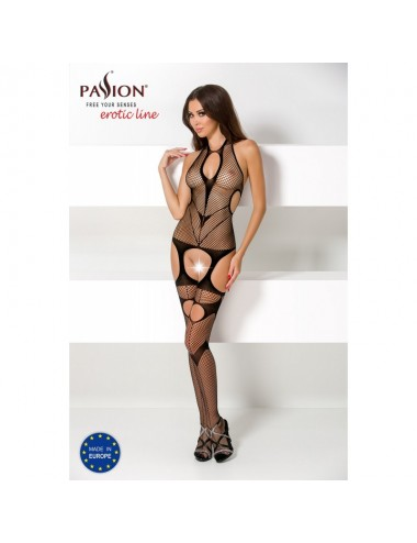 Lingerie - Combinaisons - BS053 Bodystocking - Noir - Passion