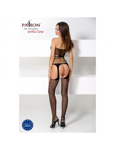 Lingerie - Combinaisons - BS049 Bodystocking - Noir - Passion
