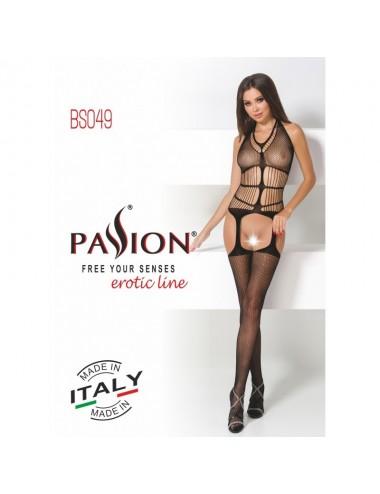 Lingerie - Combinaisons - BS049 Bodystocking - Noir - Passion