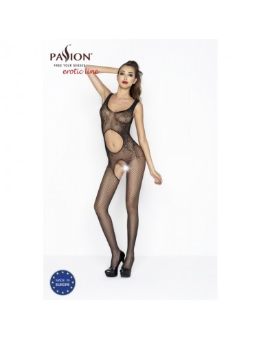 Lingerie - Combinaisons - BS044 Bodystocking - Noir - Passion
