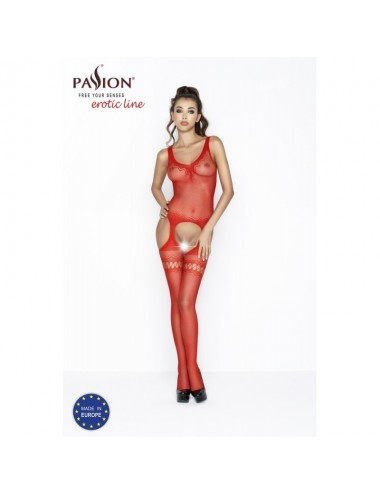 Lingerie - Combinaisons - BS038b Bodystocking - Rouge - Passion