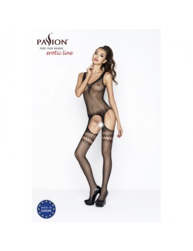 Lingerie - Combinaisons - BS038a Bodystocking - Noir - Passion