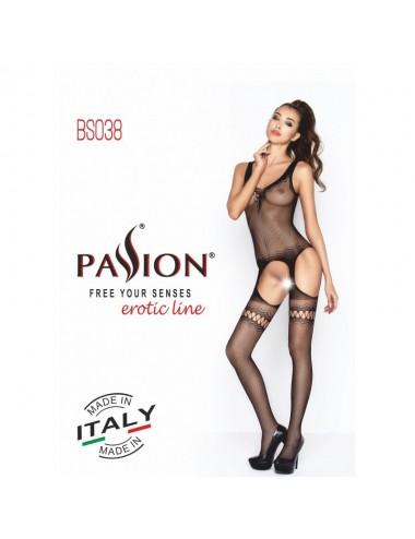 Lingerie - Combinaisons - BS038a Bodystocking - Noir - Passion