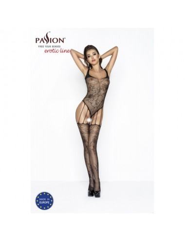 Lingerie - Combinaisons - BS034 Bodystocking - Noir - Passion