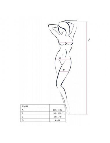 Lingerie - Combinaisons - BS034 Bodystocking - Noir - Passion