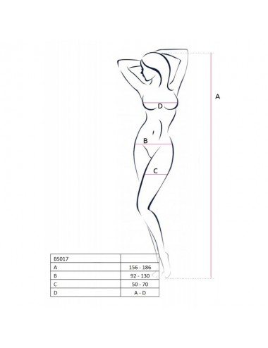 Lingerie - Combinaisons - BS017 Bodystocking - Noir - Passion