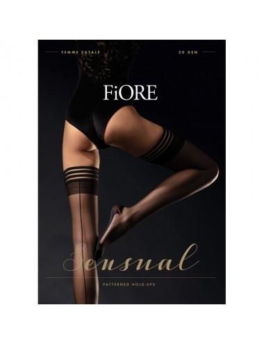 Lingerie - Bas - Femme Fatale Bas 20 DEN - Noir - Fiore