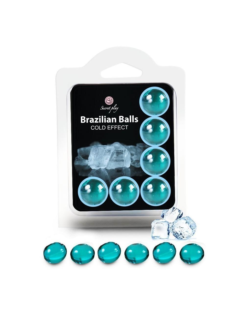 6 Brazilian Balls Cold effect 3613-1 - Huiles de massage - Brazilian Balls