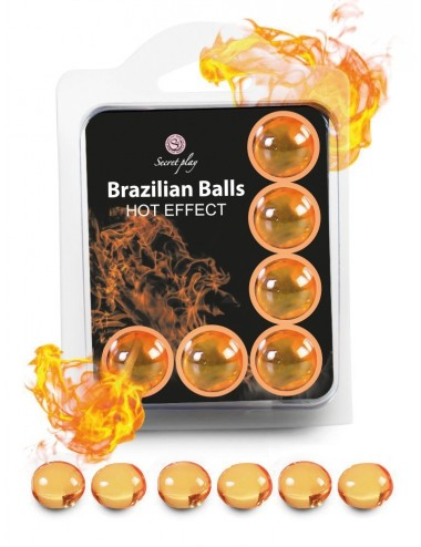 6 Brazilian Balls Hot Effect 3575-1 - Huiles de massage - Brazilian Balls