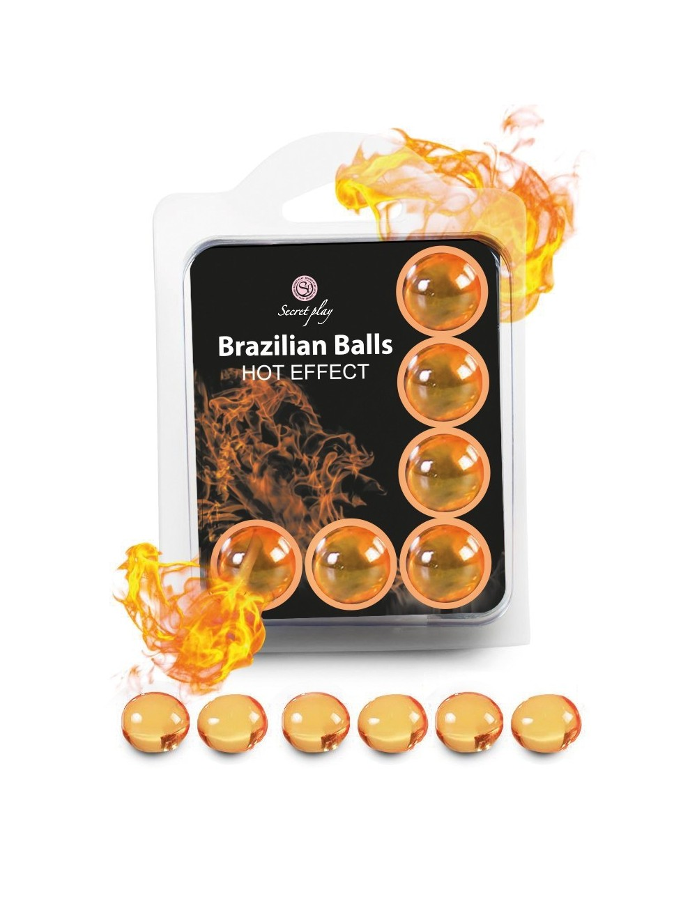 6 Brazilian Balls Hot Effect 3575-1 - Huiles de massage - Brazilian Balls