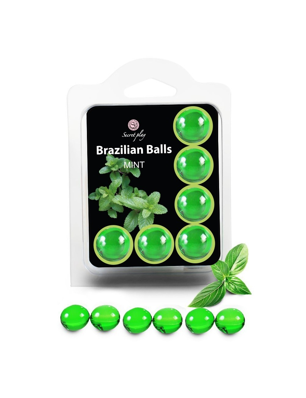 6 Brazilian Balls huile de massage effet franchiseur Menthe 3386-8 - Huiles de massage -