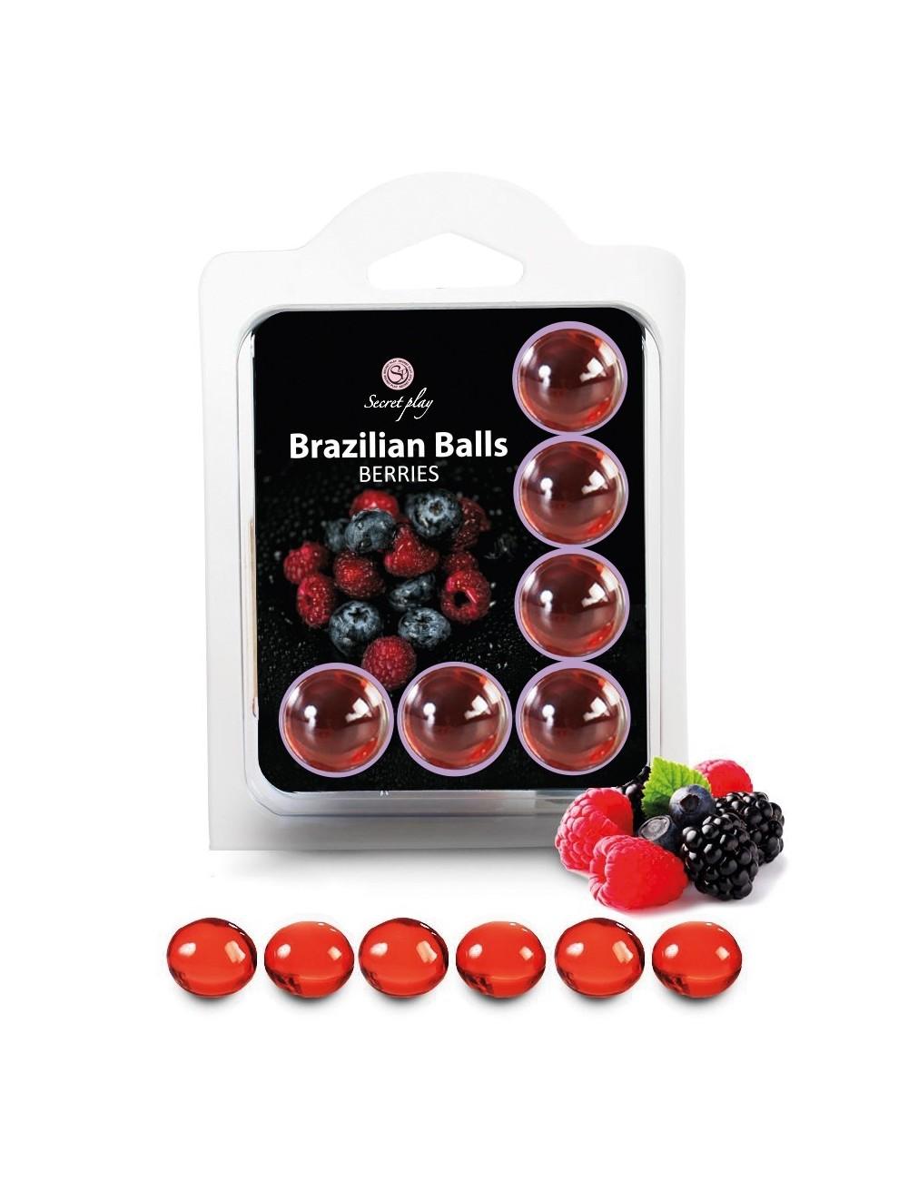 6 Brazilian Balls huile de massage au parfum fruits des bois 3386-5 - Huiles de massage -