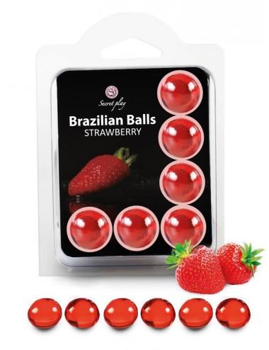 6 Brazilian Balls Fraise 3386-7 - Huiles de massage - Brazilian Balls