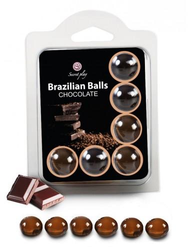 6 Brazilian Balls Chocolat 3386-1 - Huiles de massage - Brazilian Balls