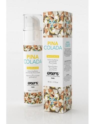 Huile chauffante Gourmande Pina Colada - 50 ml - Huiles de massage - Exsens