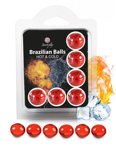 6 Brazilian Balls Cold Hot effect 3629-1 - Huiles de massage - Brazilian Balls