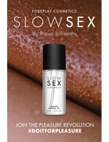 Huile de massage chauffante - Slowsex - 50ml - Huiles de massage - Bijoux Indiscrets