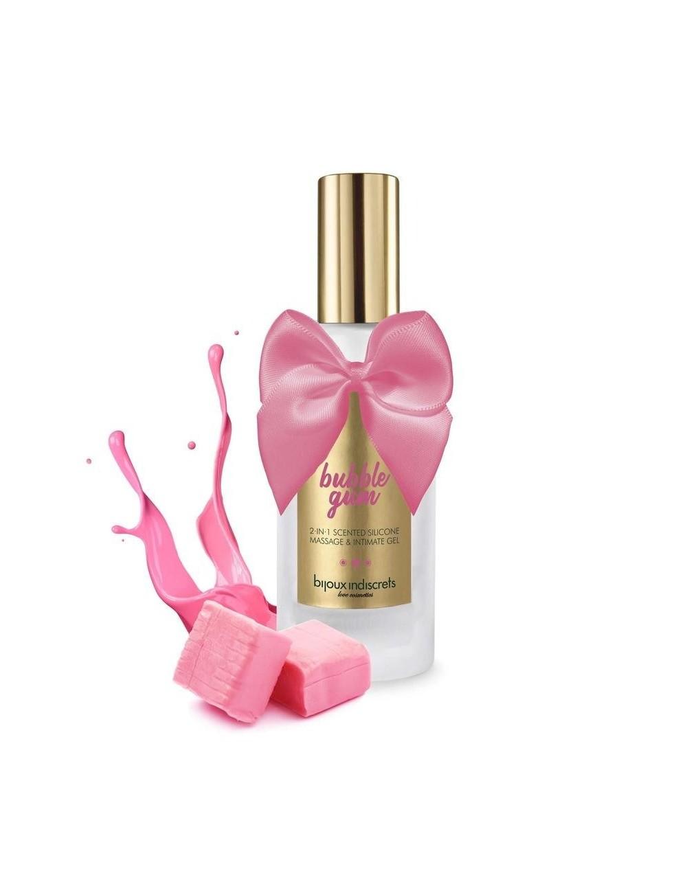 Gel Intime et de huile de massage en silicone Bubble gum 100 ml - Huiles de massage - Bijoux Indiscrets