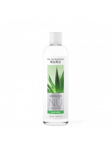 Mixgliss Gel de massage - NU Aloe Vera 250 ml - Huiles de massage - Mixgliss