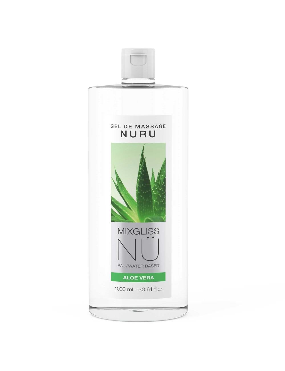 Mixgliss Gel de massage - NU Aloe Vera 1000 ml - Huiles de massage - Mixgliss