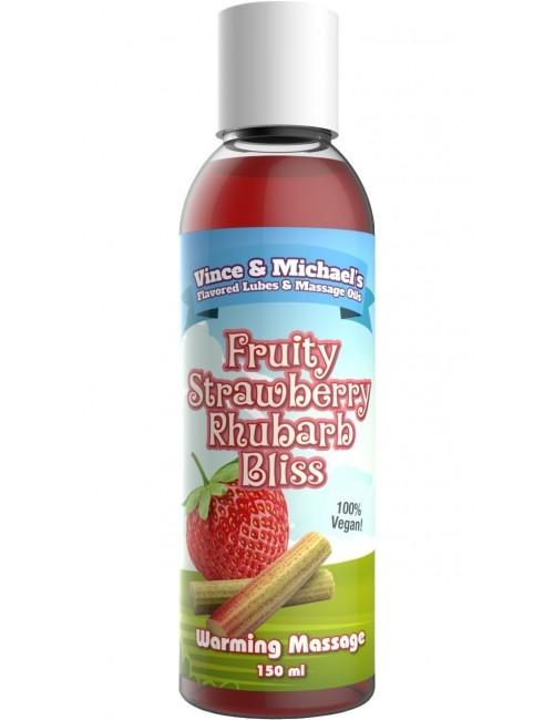 Huile Chauffante VM Saveur Fraise Rhubarbe - 150 ml