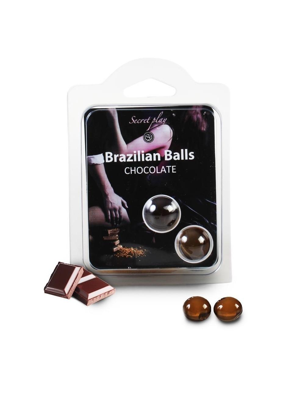 Duo nouvelles Brazilian Balls parfum Chocolat - BZ-03747 - Huiles de massage -