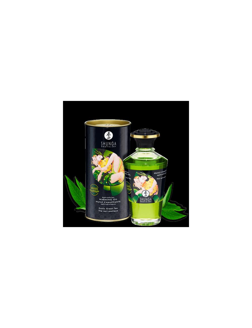 Huile aphrodisiaque organique - Thé vert exotique - Huiles de massage - Shunga
