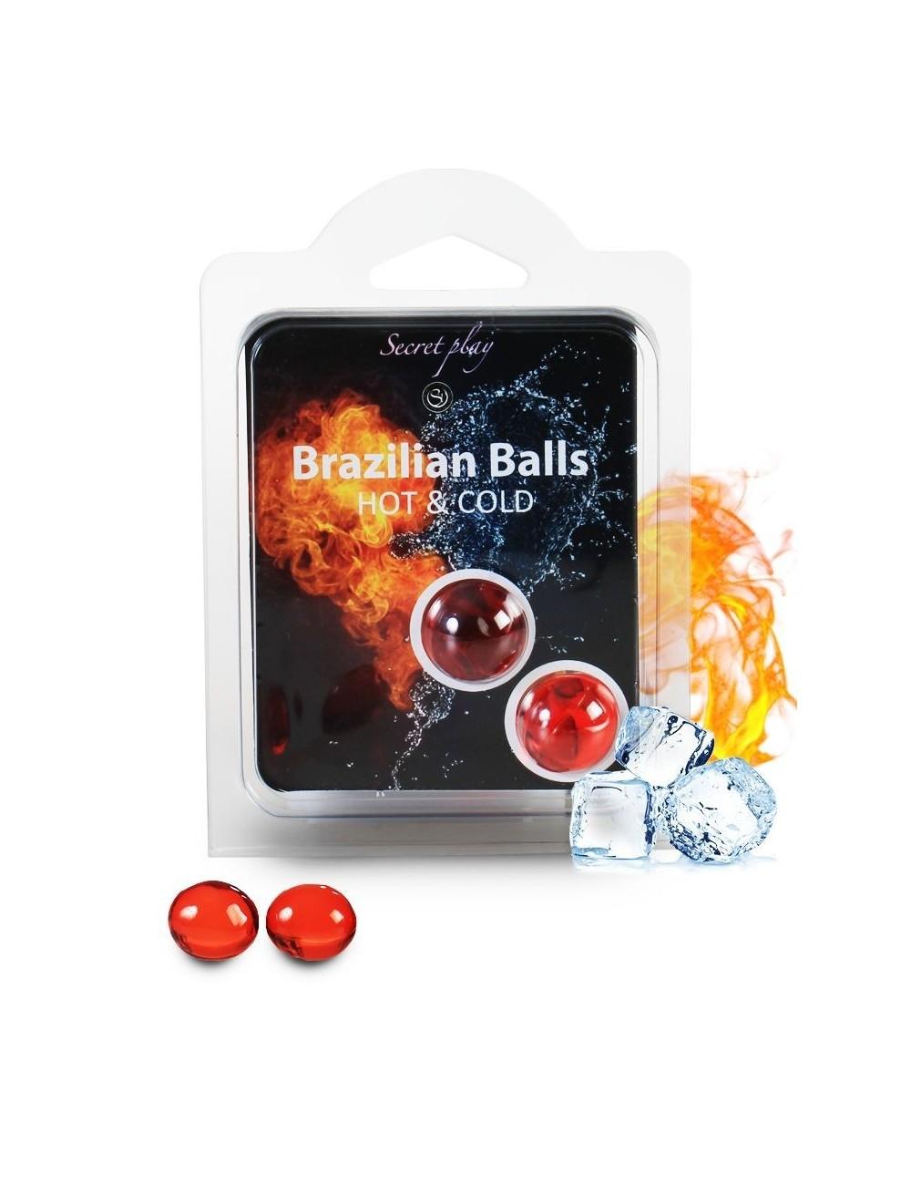 Duo Brazilian Balls Cold Hot effect 3629 - Huiles de massage - Brazilian Balls