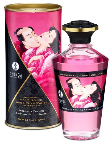 Huile chauffante aphrodisiaque - Framboise 100ml - Huiles de massage - Shunga