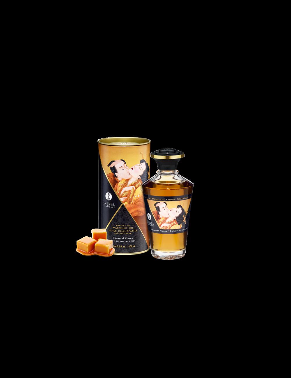 Huile chauffante aphrodisiaque - Baisers caramel - Huiles de massage - Shunga