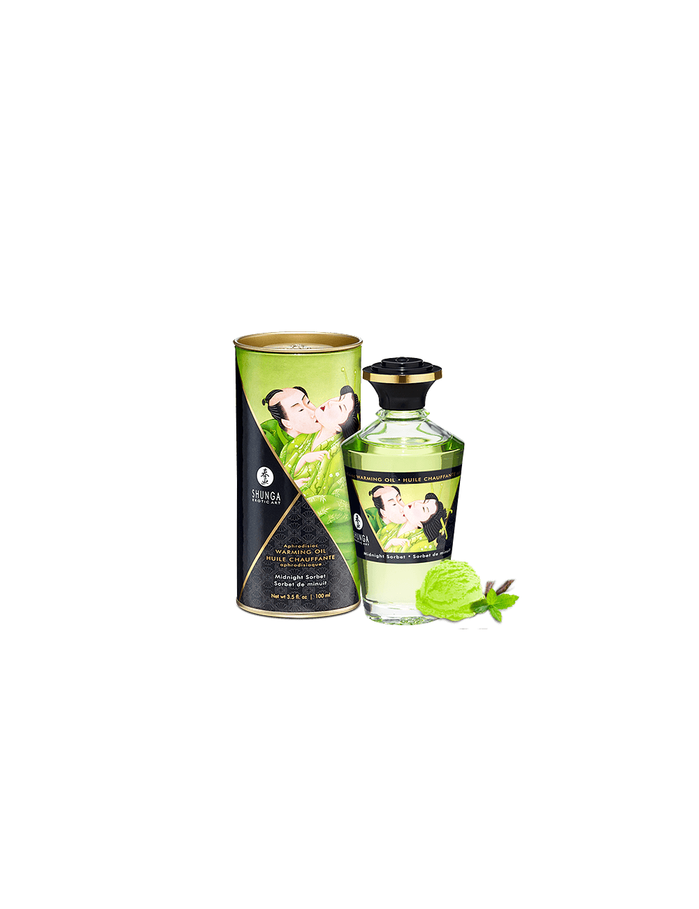 Huile chauffante aphrodisiaque - Sorbet de minuit 100ml - Huiles de massage - Shunga