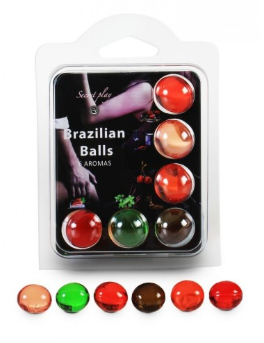6 Brazilian Balls Aroma 3386 - Huiles de massage - Brazilian Balls