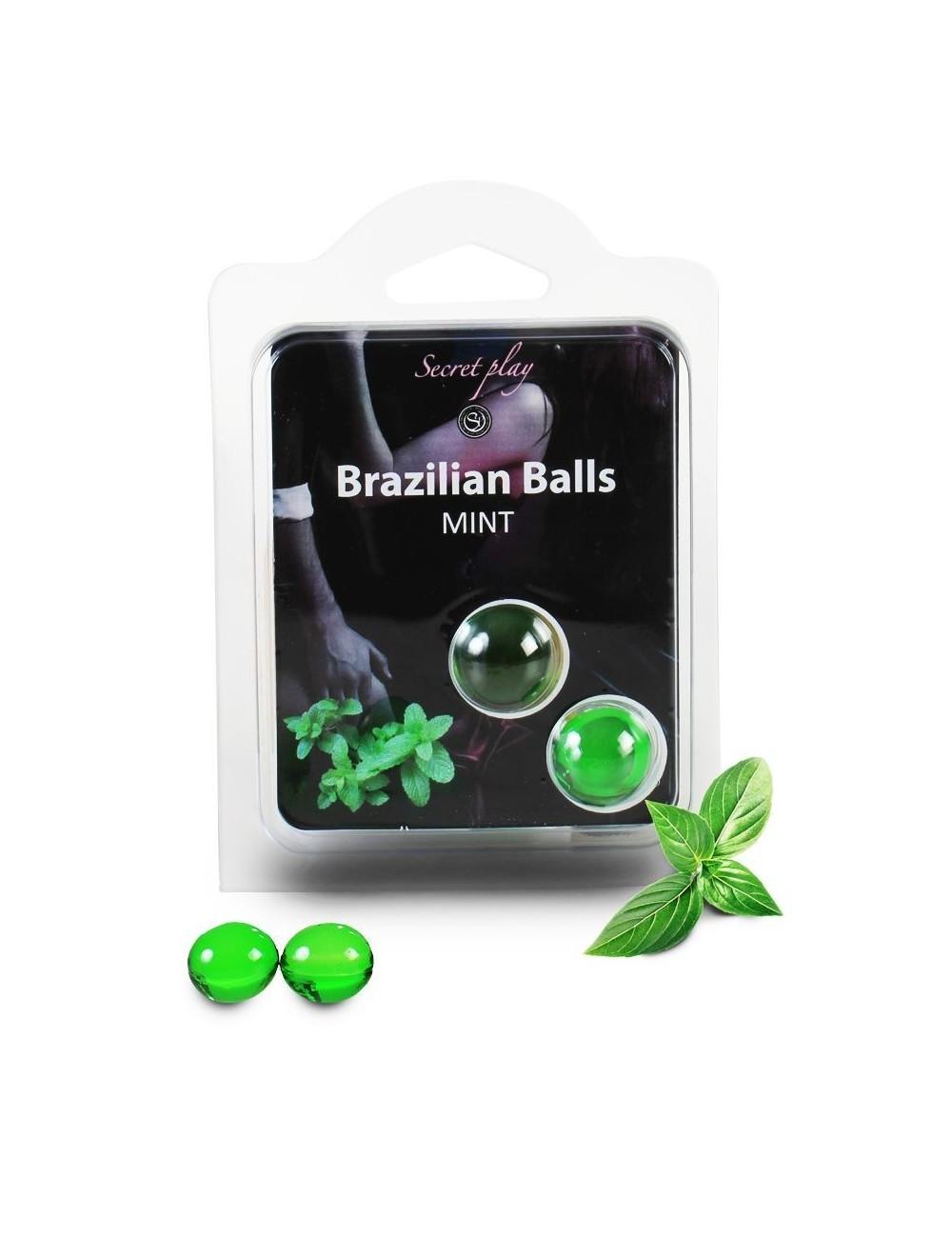 Duo Brazilian Balls Menthe 3385-8 - Huiles de massage - Brazilian Balls