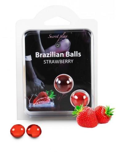 Duo Brazilian Balls Fraise 3385-7 - Huiles de massage - Brazilian Balls