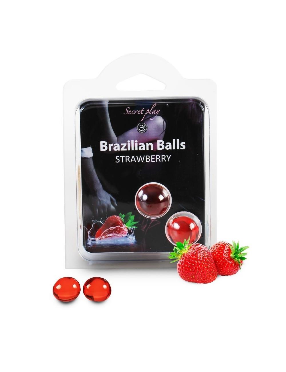 Boules pour massage à la fraise 3385-7 Brazilian - BZ-03266 - Huiles de massage -