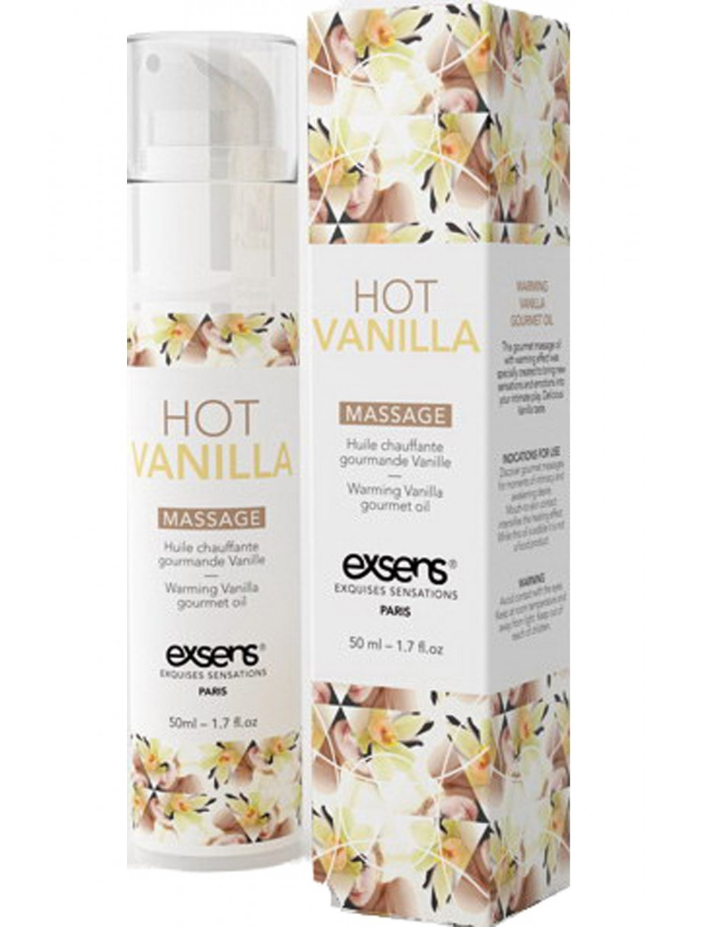 Huile chauffante Gourmande Vanille 50ml - Huiles de massage - Exsens