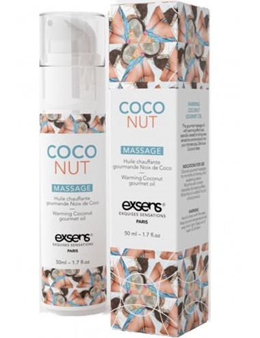 Huile chauffante Gourmande Noix de coco 50ml - Huiles de massage - Exsens