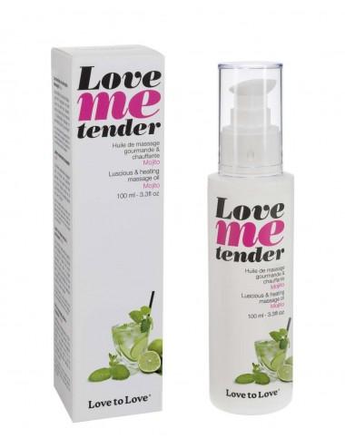 huile de massage est parfumée mojito Love Me Tender 100ML - Huiles de massage - Love to Love