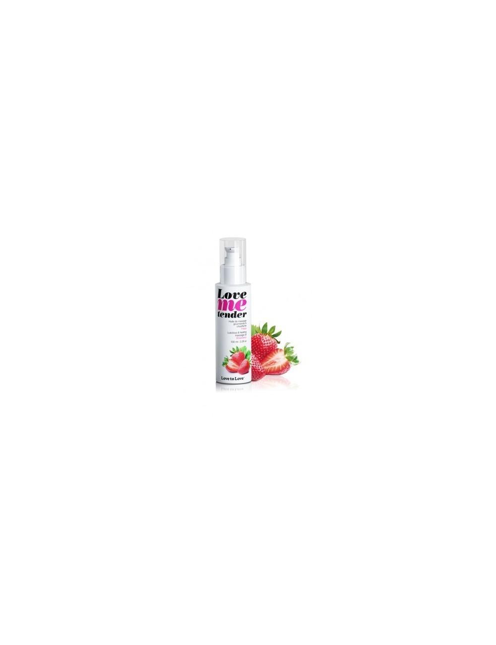 Huile de massage est parfumée à la fraise Love Me Tender 100ML - Huiles de massage - Love to Love