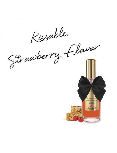 Huile de massage embrassable chauffante - fraise sauvage - Huiles de massage - Bijoux Indiscrets