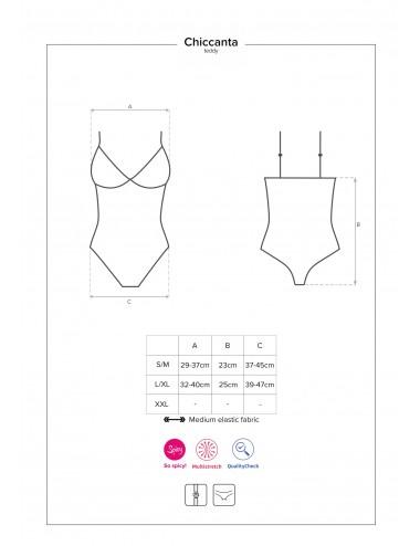 Lingerie - Bodys - Body ouverte noire et fine dentelle Chiccanta - Obsessive