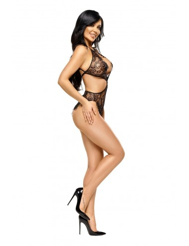 Lingerie - Bodys - Body découpées en dentelle noire Jordana - Beauty Night