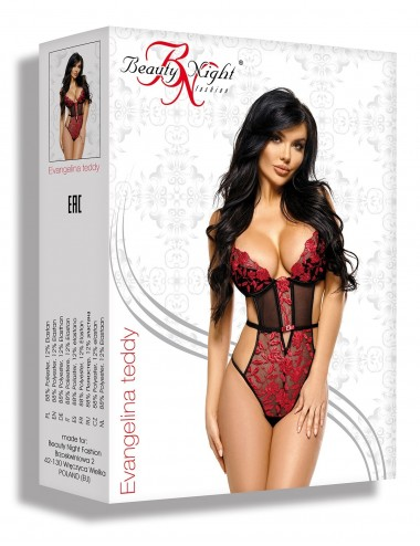 Lingerie - Bodys - Evangelina Body - Noir Rouge - Beauty Night