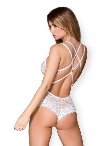 Lingerie - Bodys - 860-TED-2 Body - Blanc - Obsessive
