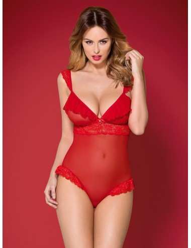 Lingerie - Bodys - 863-TED-3 Body - Rouge - Obsessive