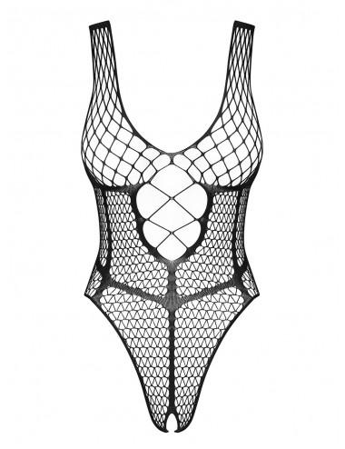 Lingerie - Bodys - B117 Body Ouvert - Noir - Obsessive