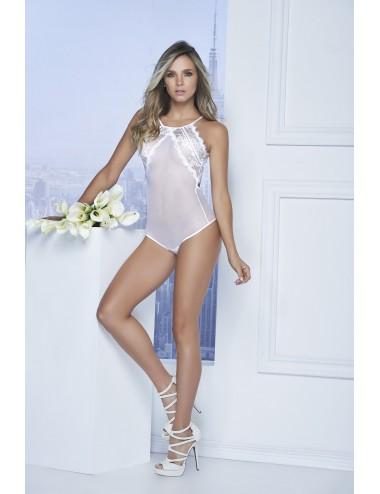 Lingerie - Bodys - Body Style 7108 - Blanc - Mapalé