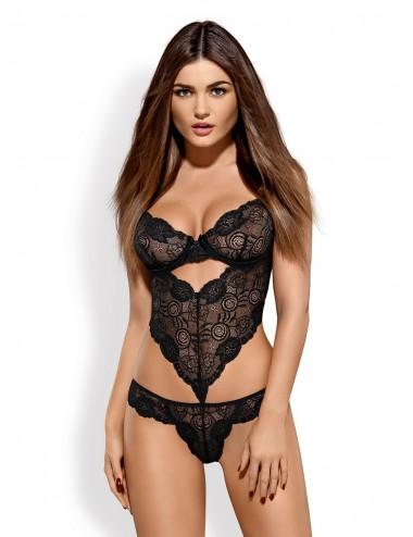 Lingerie - Bodys - Alluria Body - Noir - Obsessive